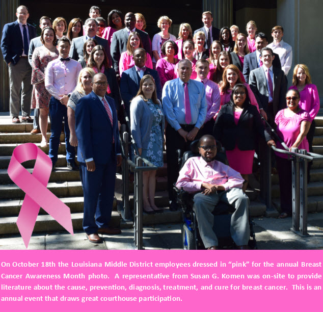 2017 Breast Cancer Awareness Photo Louisiana Middle
